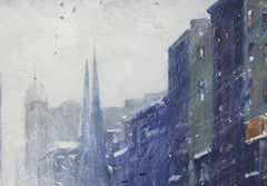 'New York Public Library Under Snow 1940s' by Finley, after Guy Carleton Wiggins (circa 1960s)
