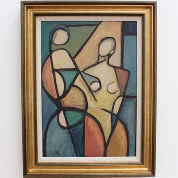 'Cubist Figures in Colour' by STM (circa 1960s)