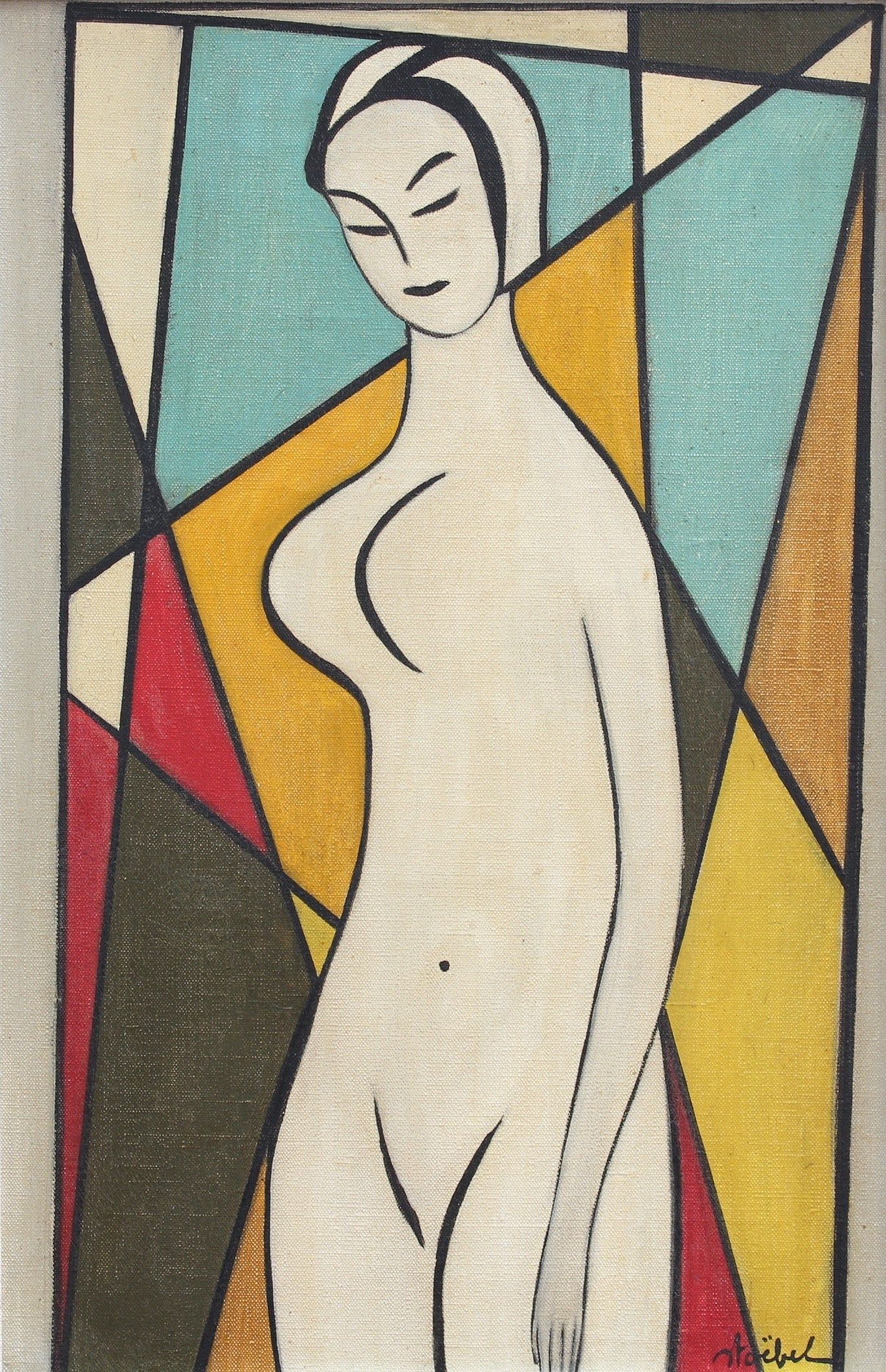 'Standing Nude' by Edgar Stoëbel (circa 1960s)