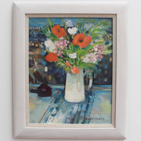 'Bouquet with White Jug' by Jacques Petit (circa 1990s)