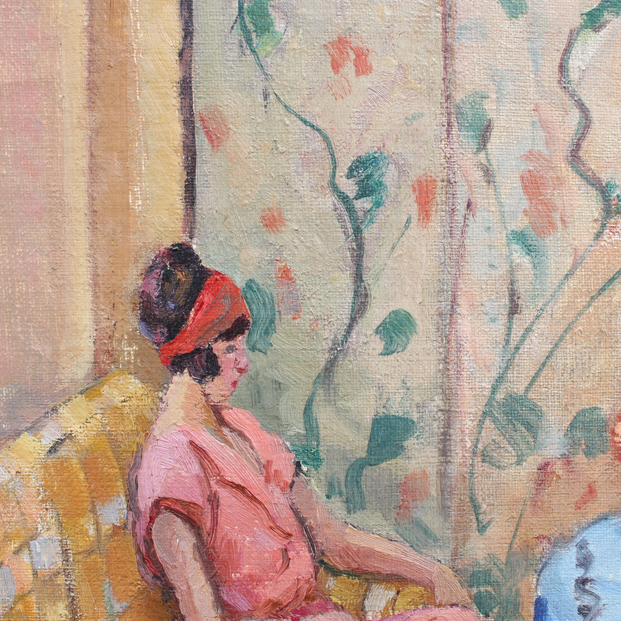 'Seated Woman With Book' (1924)