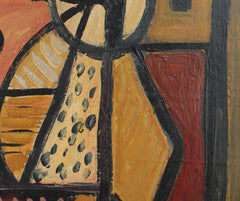 'Cubist Composition' by V.R. (circa 1940s - 1960s)