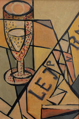 'Still Life with Champagne Bubbles and Newspaper' (circa 1940s - 1960s)