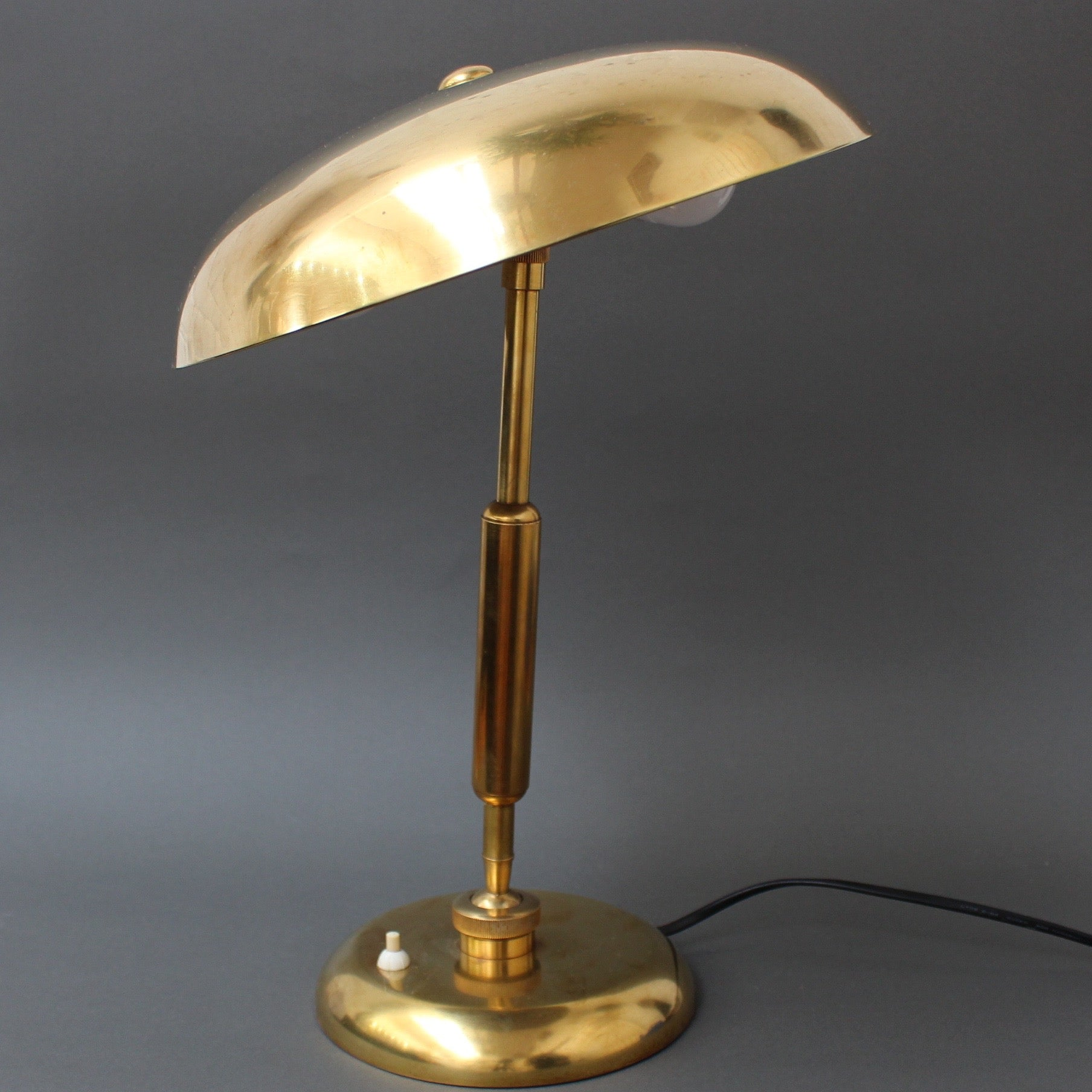 Italian Brass Desk Lamp (circa 1940s)