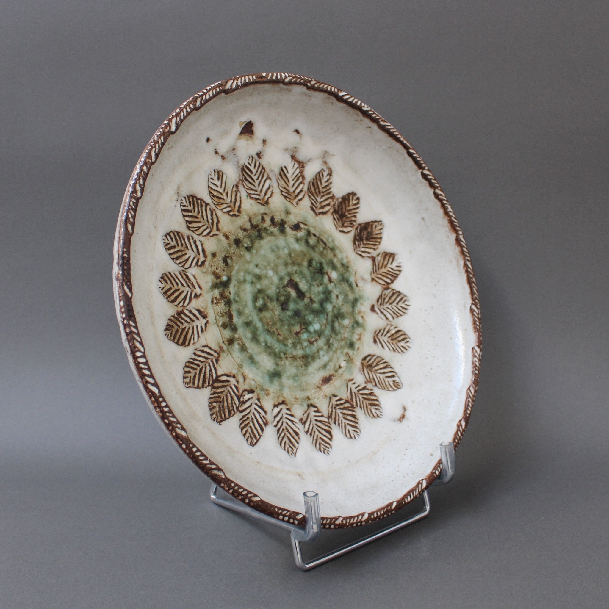 Mid-Century Decorative Plate by Albert Thiry (circa 1960s)