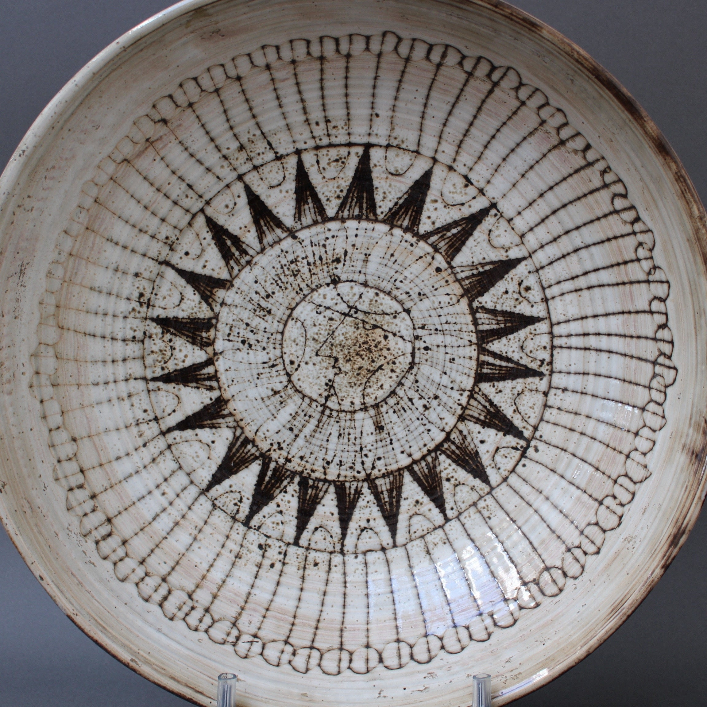 Large Decorative Bowl by Jacques Pouchain - Atelier Dieulefit (circa 1960s)