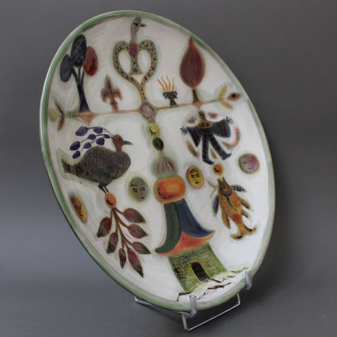 Decorative Ceramic Platter by David Sol (circa 1950s)