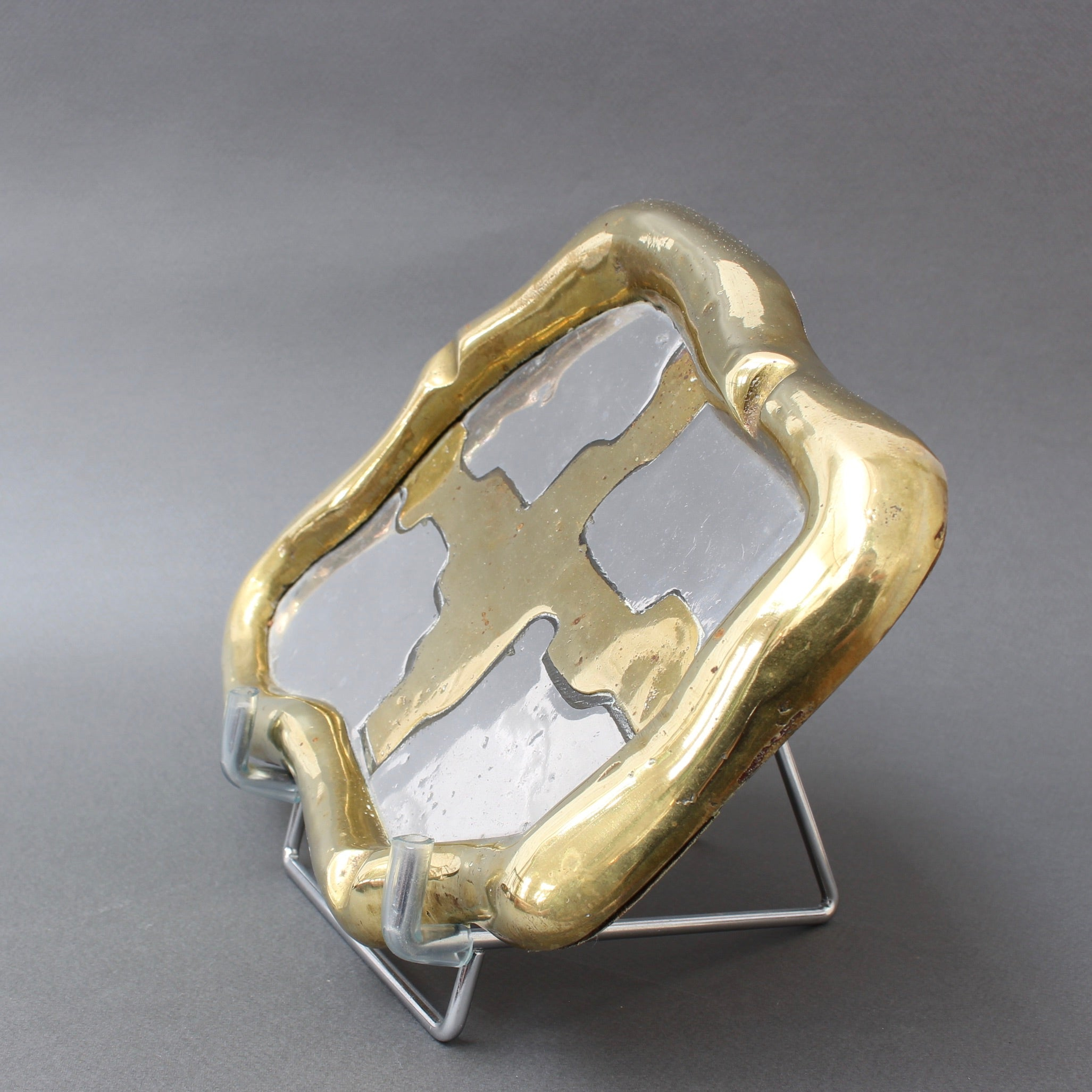Aluminium and Brass Vide-Poche / Ashtray Attributed to David Marshall (c. 1980s)