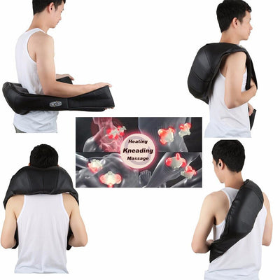 Electrical Back Neck Pillow Warm Massage