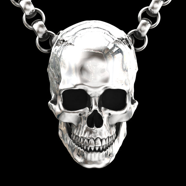Large Full Anatomical Skull Pendant