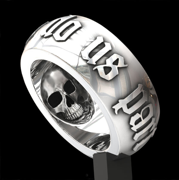 Till Death Do Us Part 10mm wide skull ring
