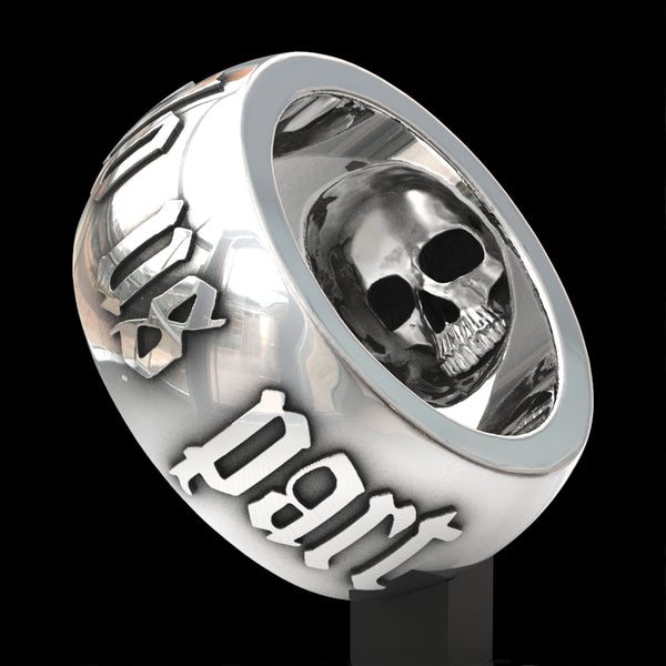 Till Death Do Us Part skull ring