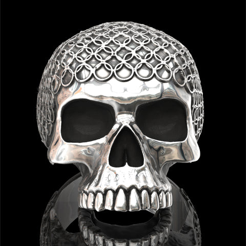Skull ring with chain mail