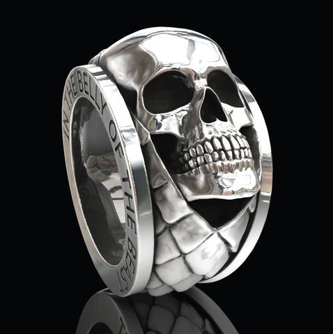 In the belly of the beast skull ring
