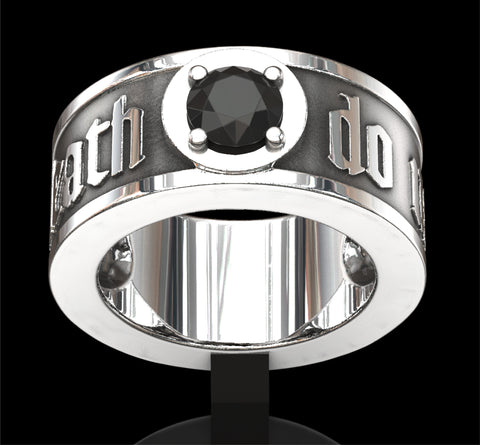 Spinel set (Till death do us part) skull ring