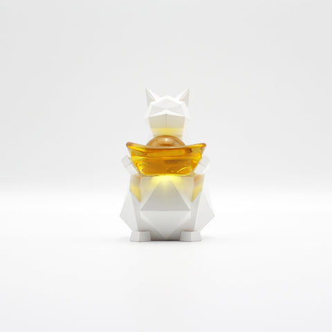 Geometric Maneki Neko - White (mini)
