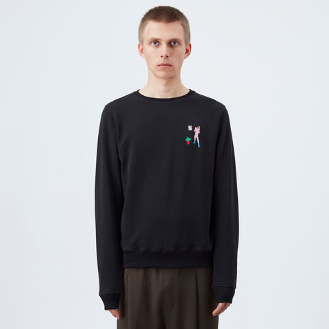 Carne Bollente Le poteau rose Sweater - Black