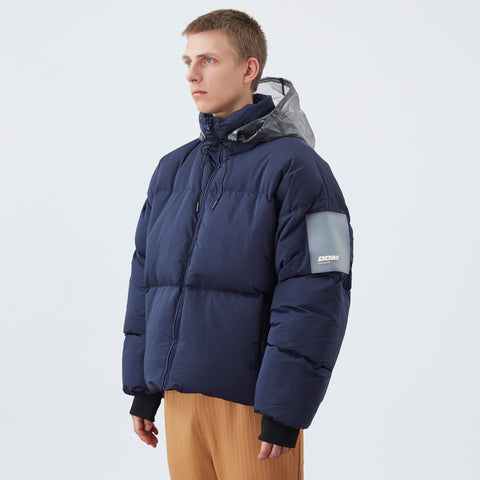 DDM Patched Down Jacket - Navy
