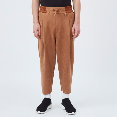 DDM Soft cropped carrot pants - Light brown