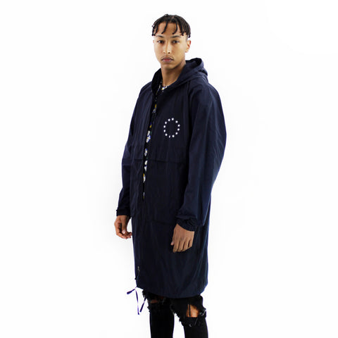 Études Memory Tech Navy - hooded windbreaker