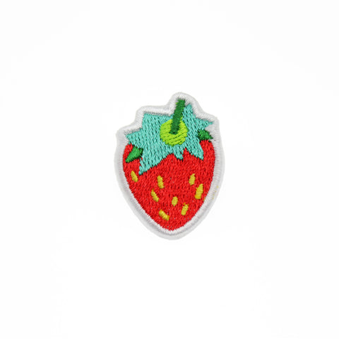 Strawberry - Embroidered Pin