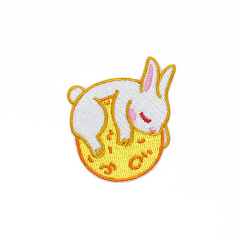 Moon Rabbit - Embroidered Pin
