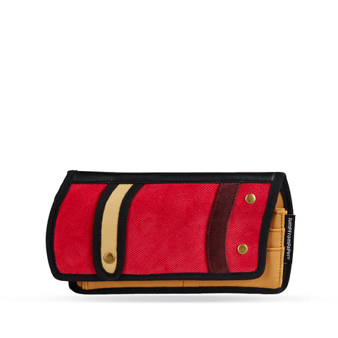 JumpFromPaper Red Traveler Purse