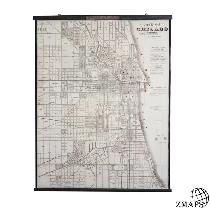 Old Chicago city plan 1857