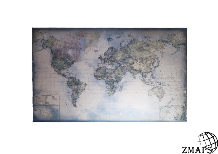 Products zmaps blue world map 66x40 170 x 104 cm modern world gumiabroncs Gallery