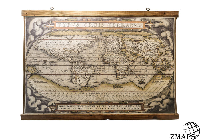 Map Typus Orbis Terrarum 1564,  51'' x 37''/ 130cm x 94cm, Ancient world map