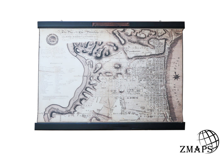 Old map of Philadelphia 1796