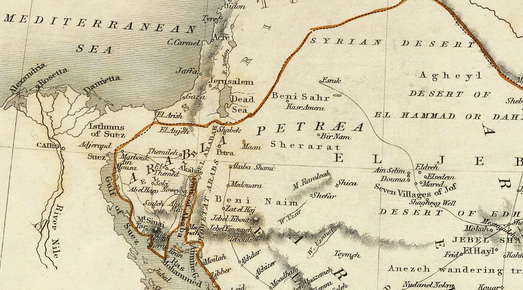 Old map of Arabia,Arabian peninsula,100 x 71 cm,39'' x 27'', Arabic old map