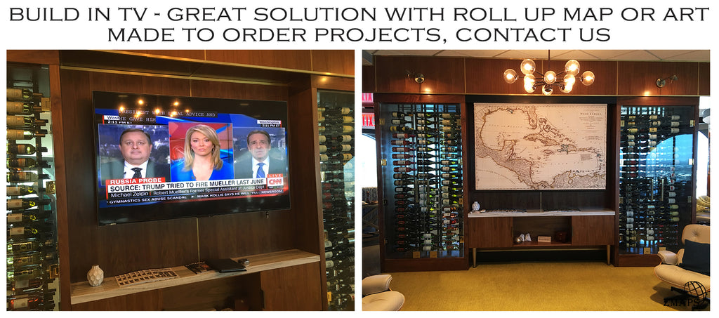 Motorized, remote controlled roll up system as TV cover
