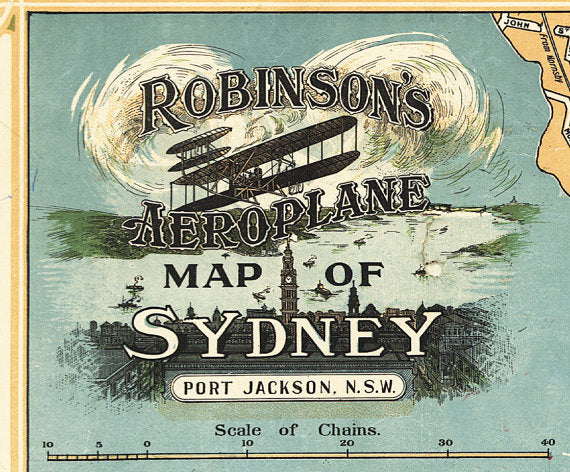 robinson's airplane map of sydney