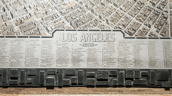 Los Angeles, City plan, 51'' x 42'' /130 x 108cm