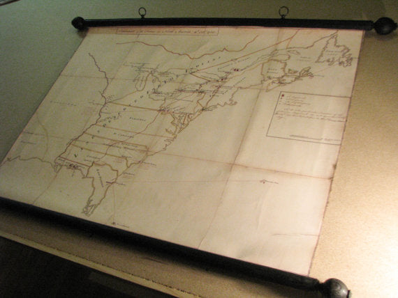 Map of the North American colonies and disposition of Revolutionary War forces, 1765, Canvas Wall Decor for office, home, library..
