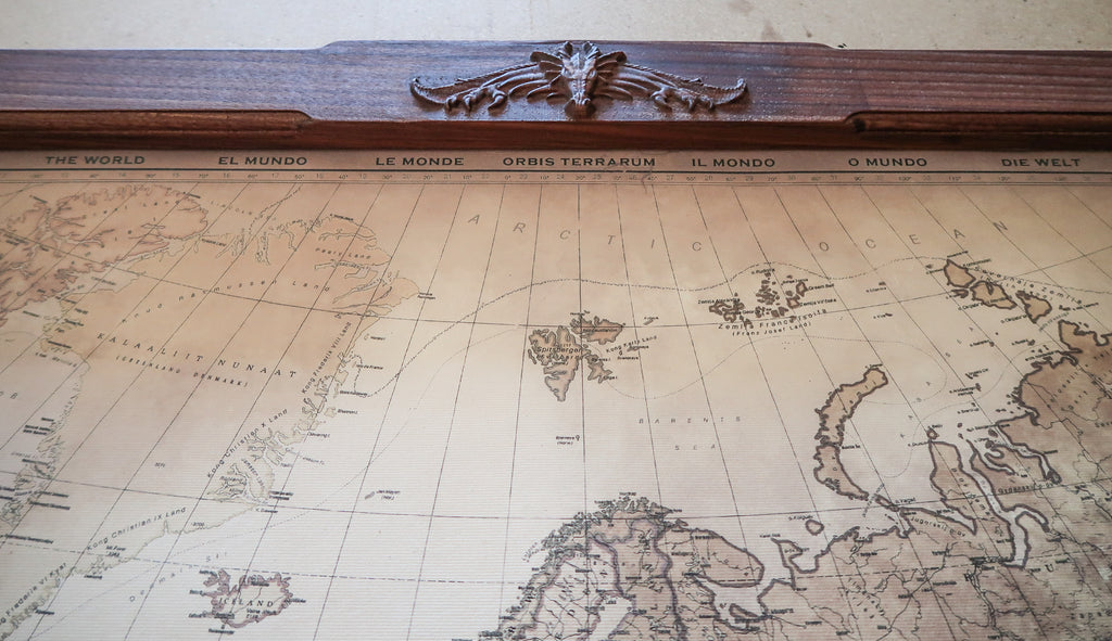 Dragon world map canvas art 61x40 154x103cm game of thrones next gumiabroncs Gallery