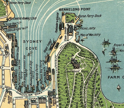 City plan of Sydney in 1922, Australia