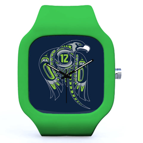 Green Seattle Seahawks Football Watch | Evolve Watches