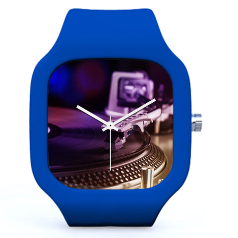 Dark Blue DJ Love Vinyl Watch | Evolve Watches