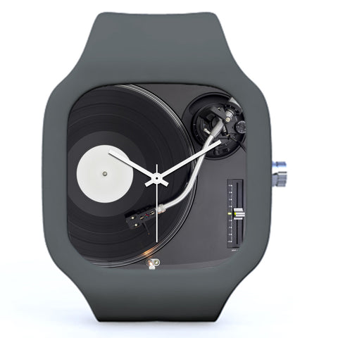 Grey DJ Turntable Watch