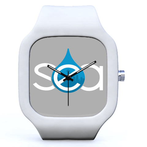 White Seattle Sea Raindrop Watch | Evolve Watches
