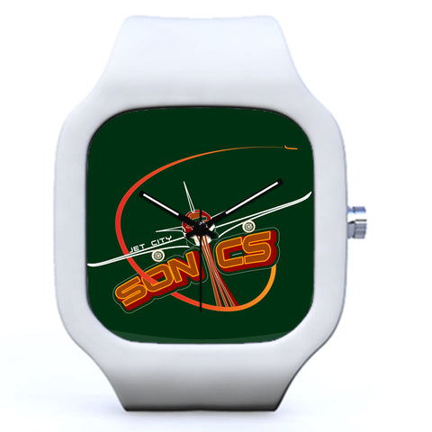 White Seattle Sonics Basketball Watch | Evolve Watches
