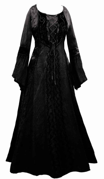 Womens Dresses Plus Size Dress Medieval Goth Gothic Hippy Psy