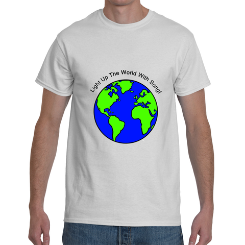 """Light Up The World with Song"" Men's T-Shirt"