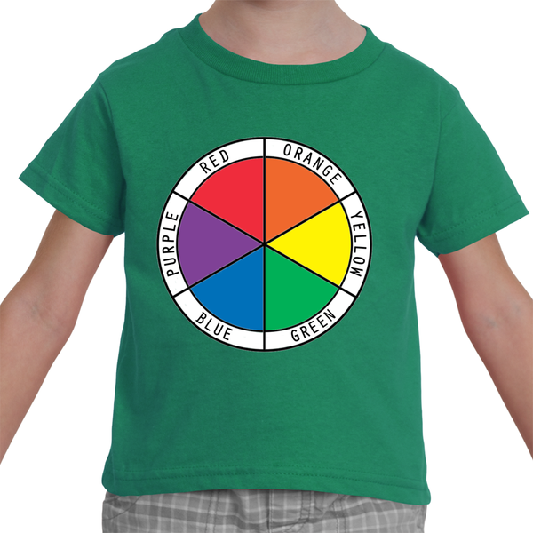Toddler T-Shirt Color Wheel - Six Colors in English