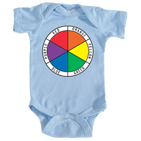 Onesie with Color Wheel in English