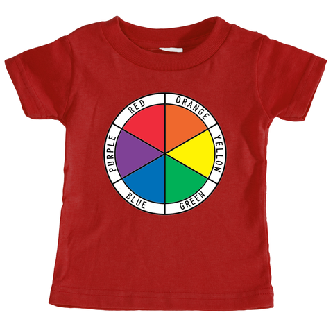 Infant T-Shirt Color Wheel in English