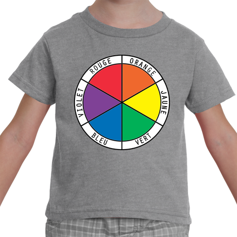 Toddler T-Shirt - French Color Wheel