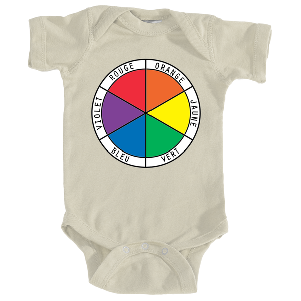 Onesie - Color Wheel in French